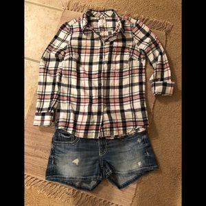 GAP fitted button down Boyfriend shirt